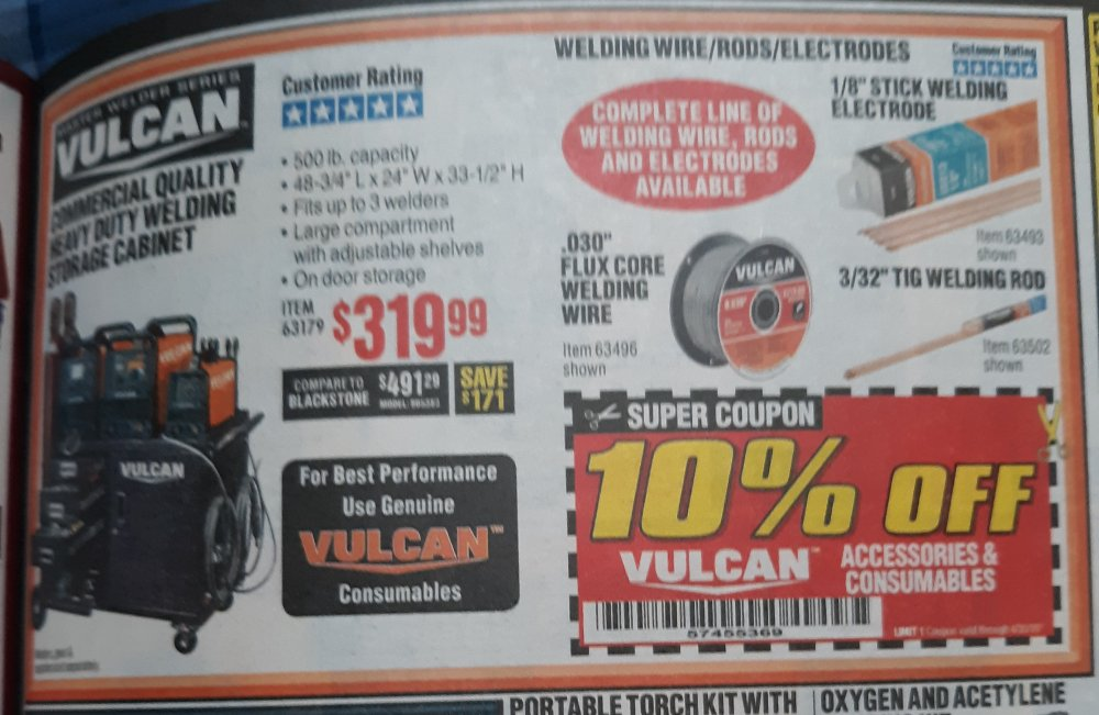 Harbor Freight Coupon, HF Coupons - 10% OFF VULCAN ACCESSORIES & CONSUMABLES