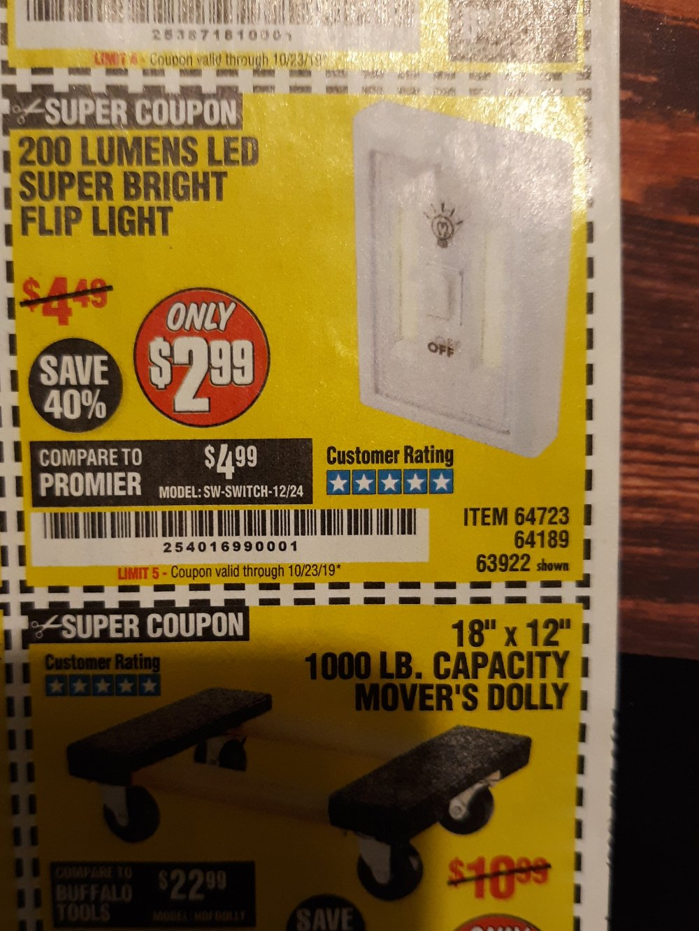 Harbor Freight Coupon, HF Coupons - 200 Lumens Led Super Bright Flip Light