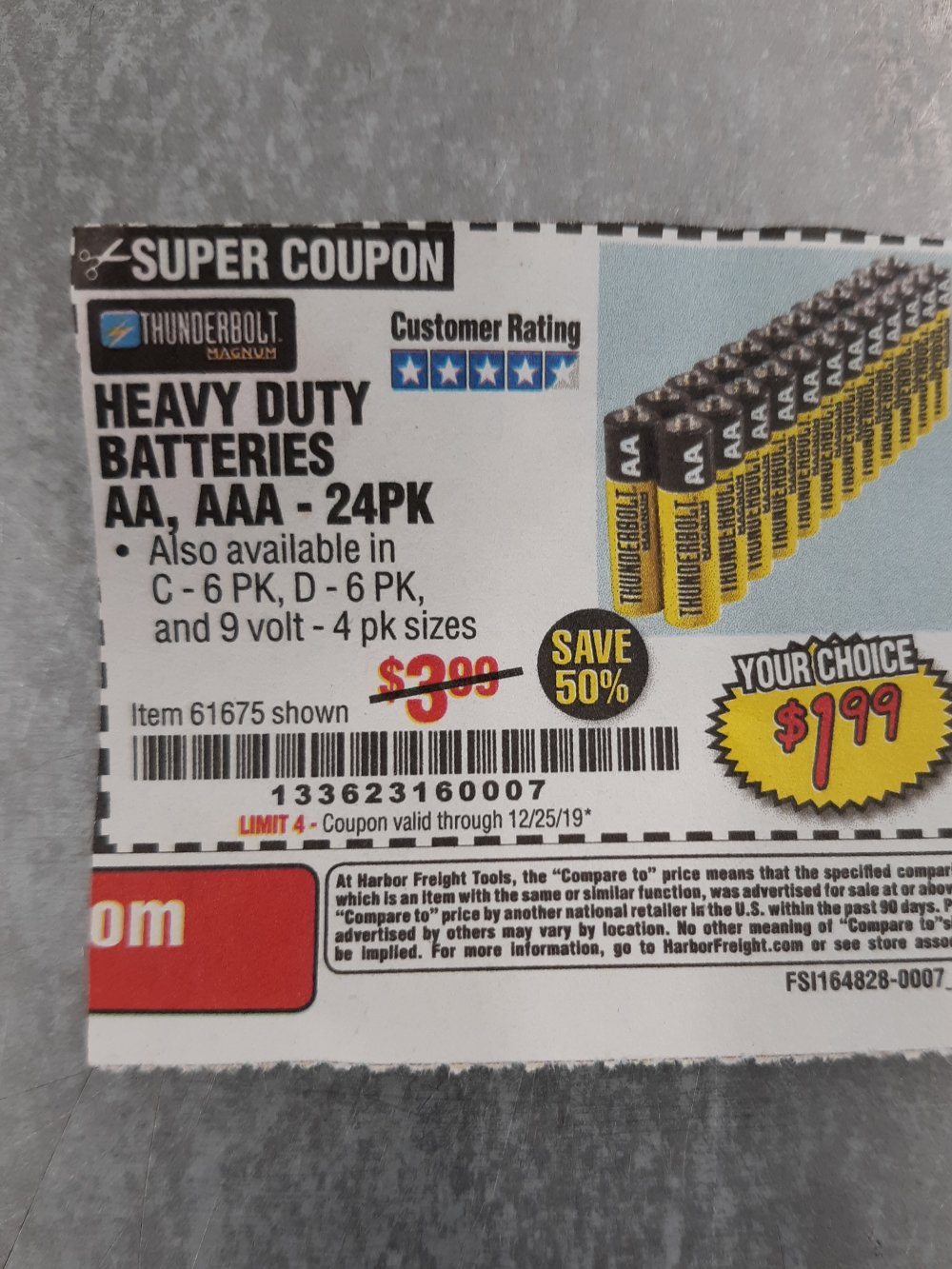 Harbor Freight Coupon, HF Coupons - 24 Pack Heavy Duty Batteries