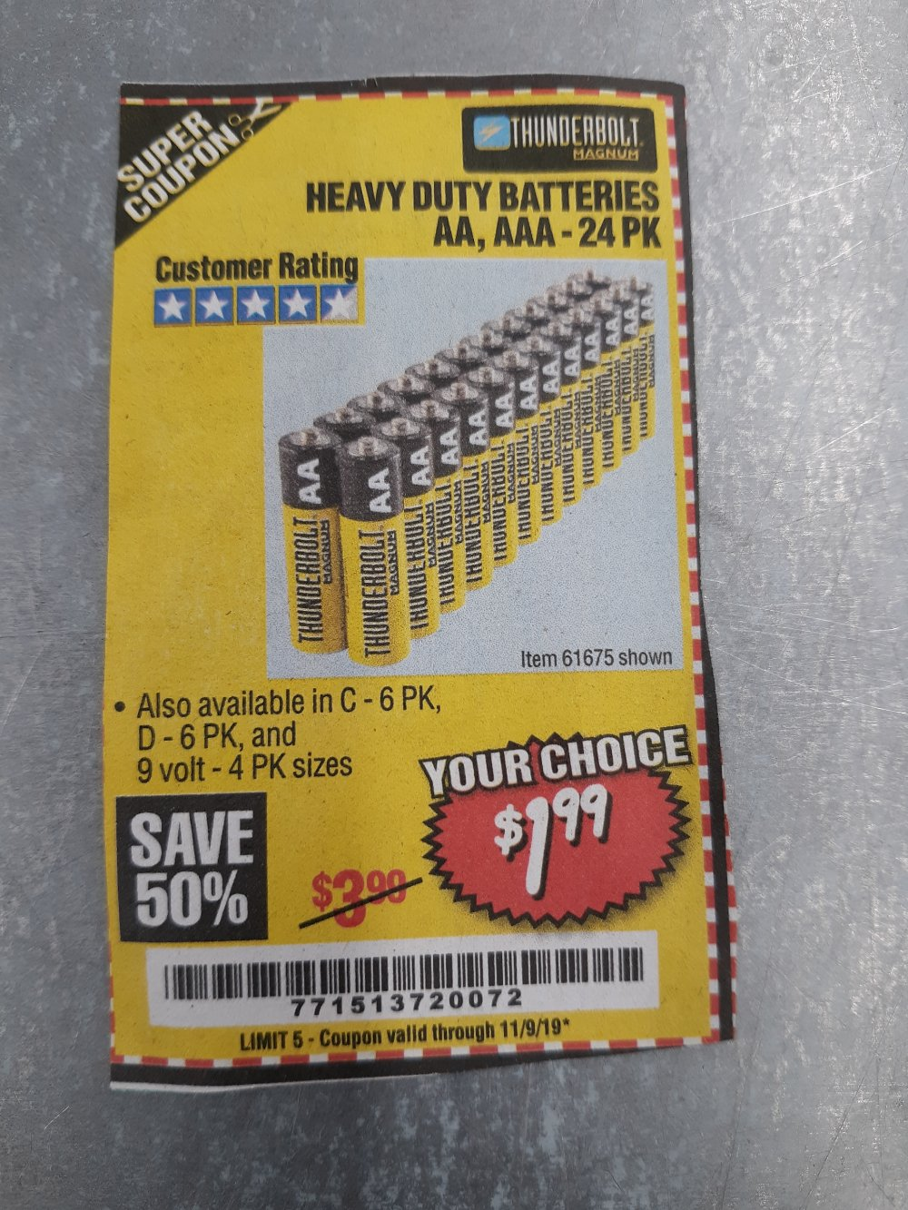 Harbor Freight Coupon, HF Coupons - C D 9v Heavy Duty Batteries