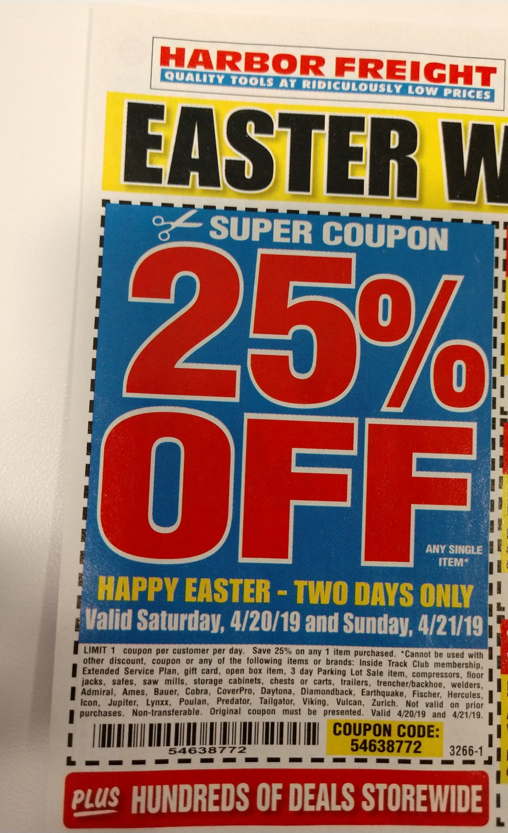 Harbor Freight Coupon, HF Coupons - 25% off
