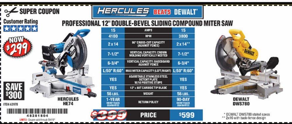 Harbor Freight Coupon, HF Coupons - Hercules Professional 12