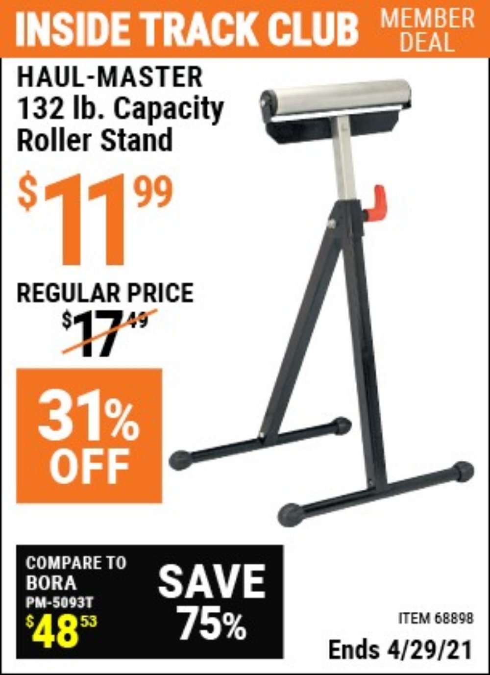 Harbor Freight Coupon, HF Coupons - 32lb. Capacity Roller Stand