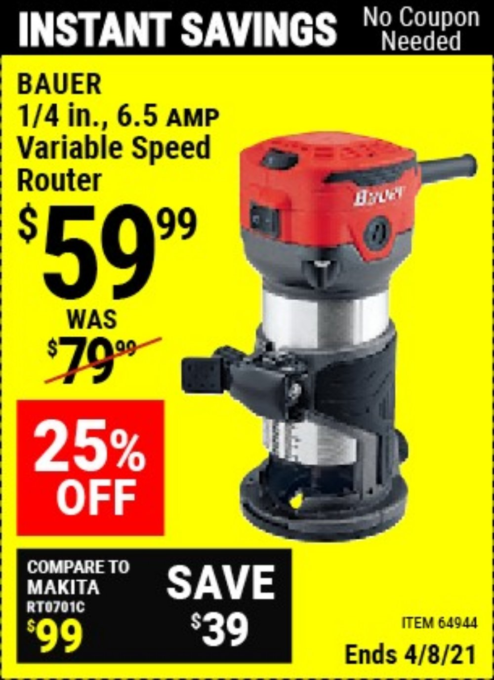 Harbor Freight Coupon, HF Coupons - 64944