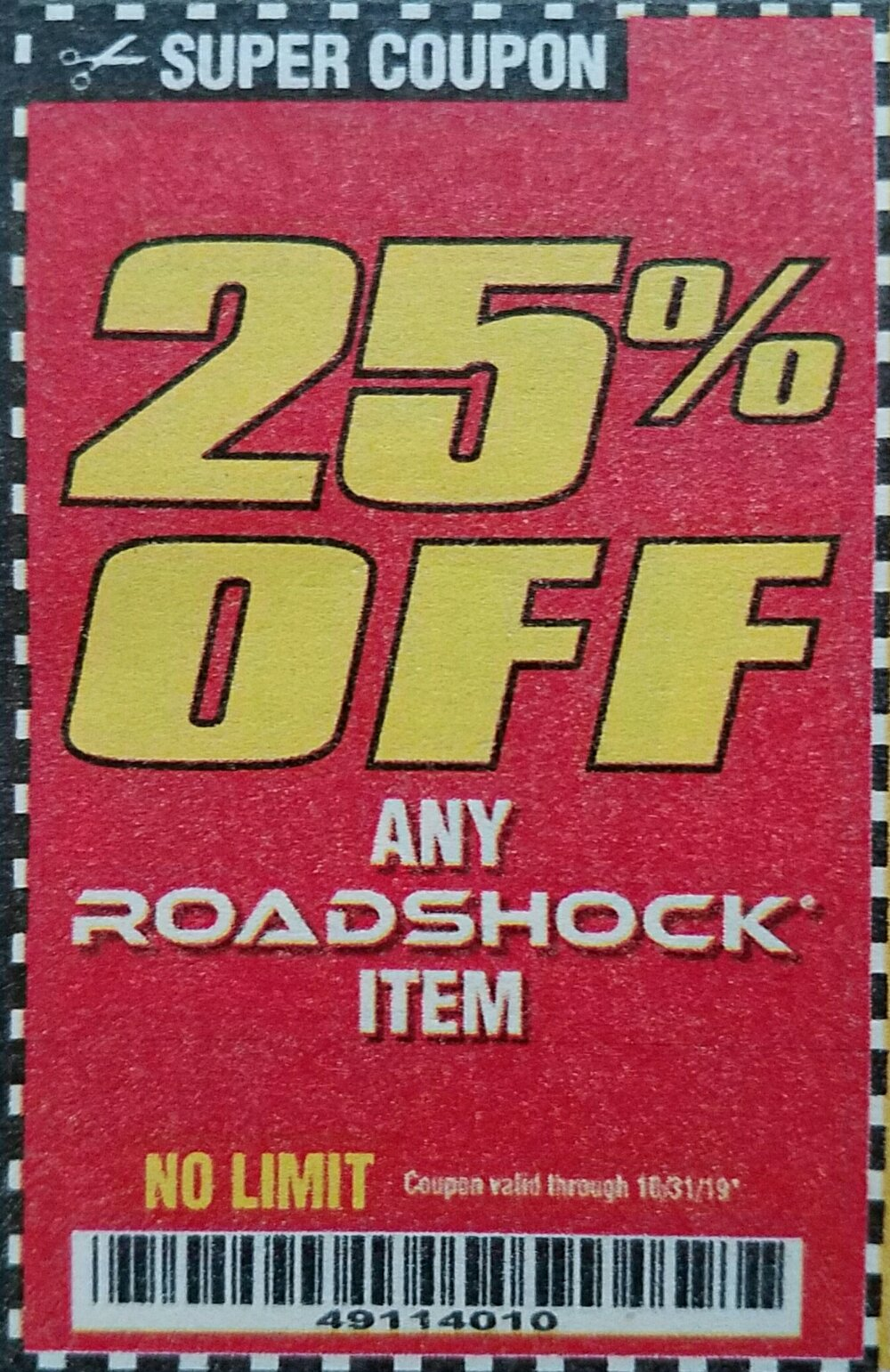 Harbor Freight Coupon, HF Coupons - 25% off any ROADSHOCK item