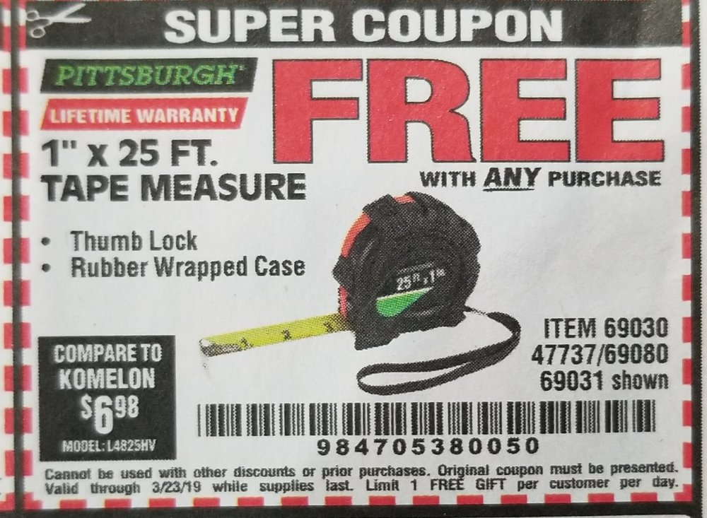 Harbor Freight Coupon, HF Coupons - FREE - 1