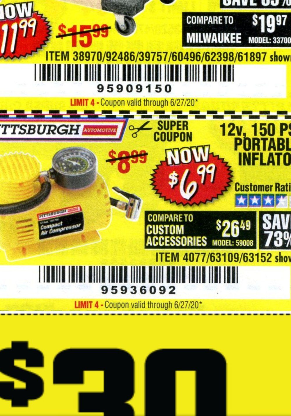 Harbor Freight Coupon, HF Coupons - 12 Volt, 150 Psi Portable Inflator