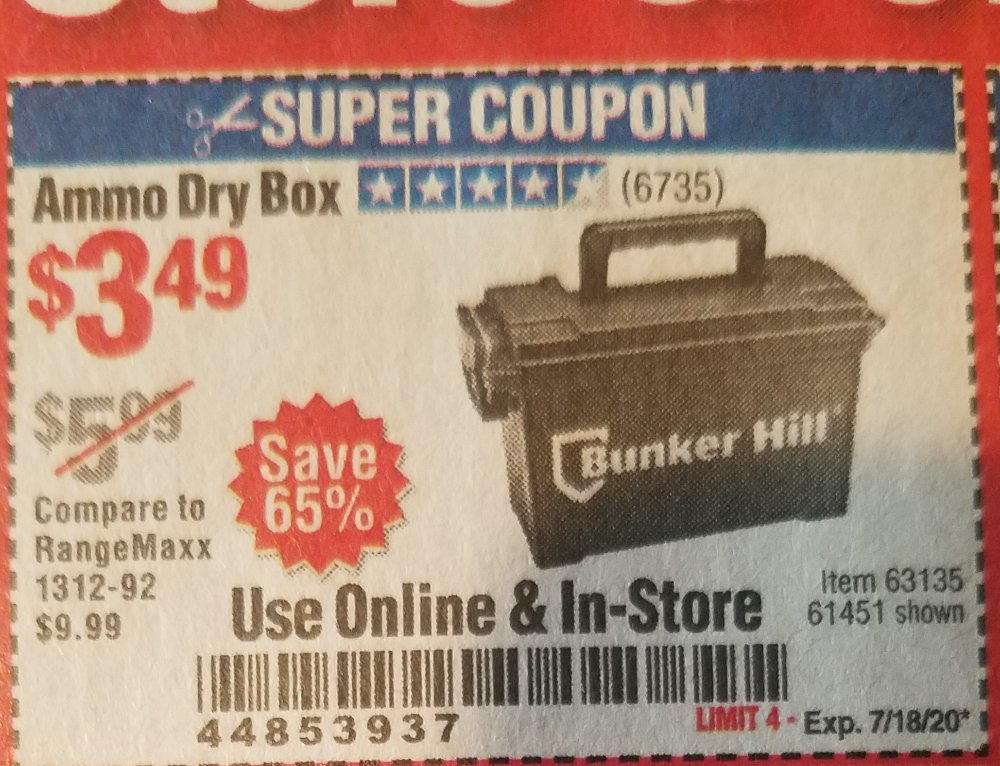 Harbor Freight Coupon, HF Coupons - Ammo Box