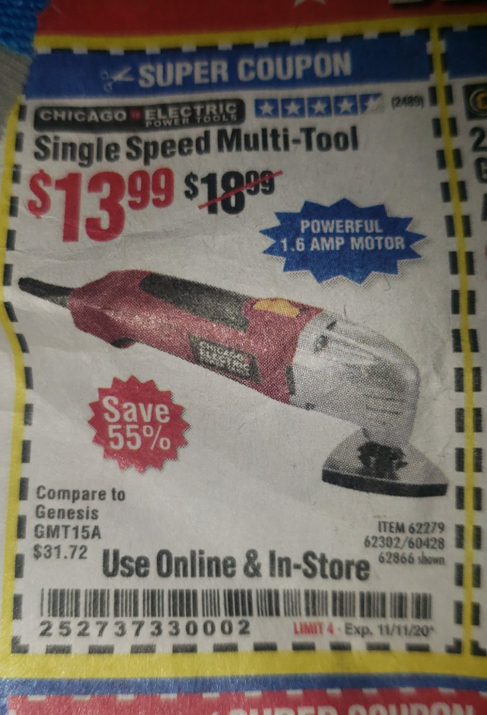 Harbor Freight Coupon, HF Coupons - Multifunction Power Tool