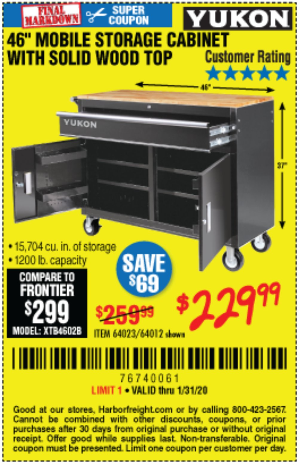 Harbor Freight Coupon, HF Coupons - Yukon 46