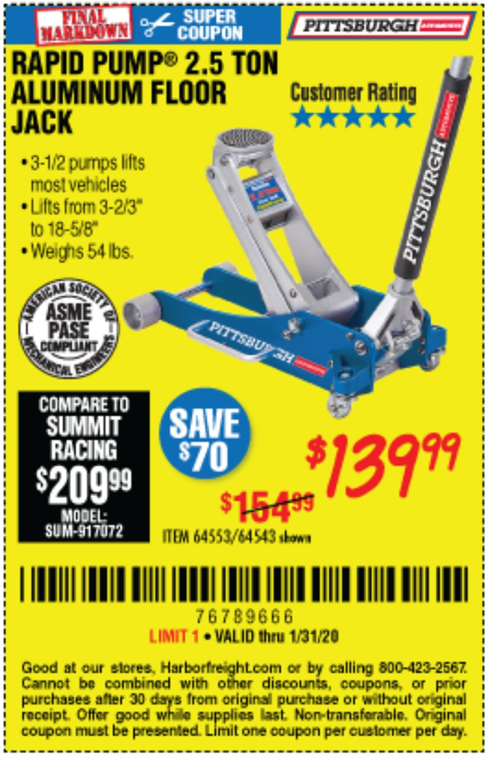 Harbor Freight Coupon, HF Coupons - 64543