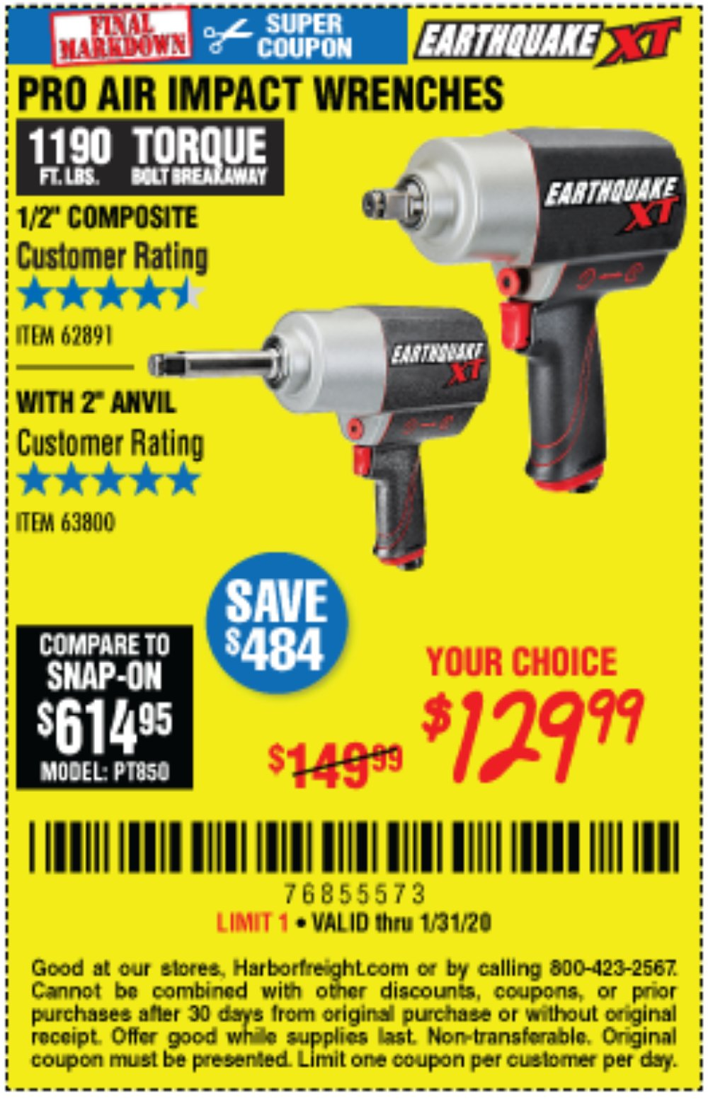 Harbor Freight Coupon, HF Coupons - 1/2