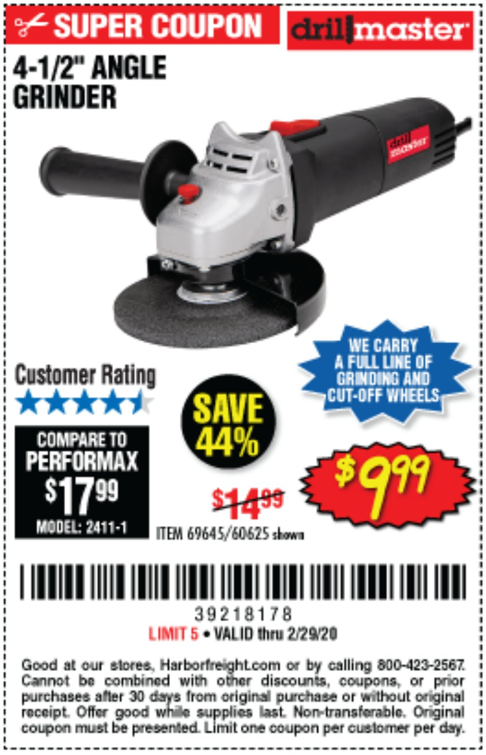 Harbor Freight Coupon, HF Coupons - 4-1/2