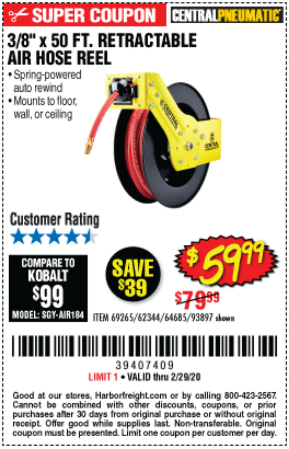Harbor Freight Coupon, HF Coupons - 3/8
