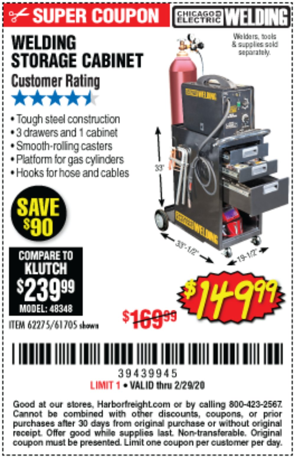 Harbor Freight Coupon, HF Coupons - Welding Storage Cabinet