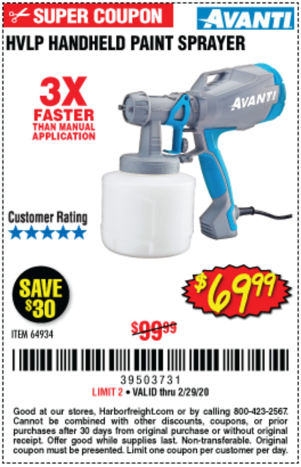 Harbor Freight Coupon, HF Coupons - Avanti Hvlp Hand Held Paint Sprayer