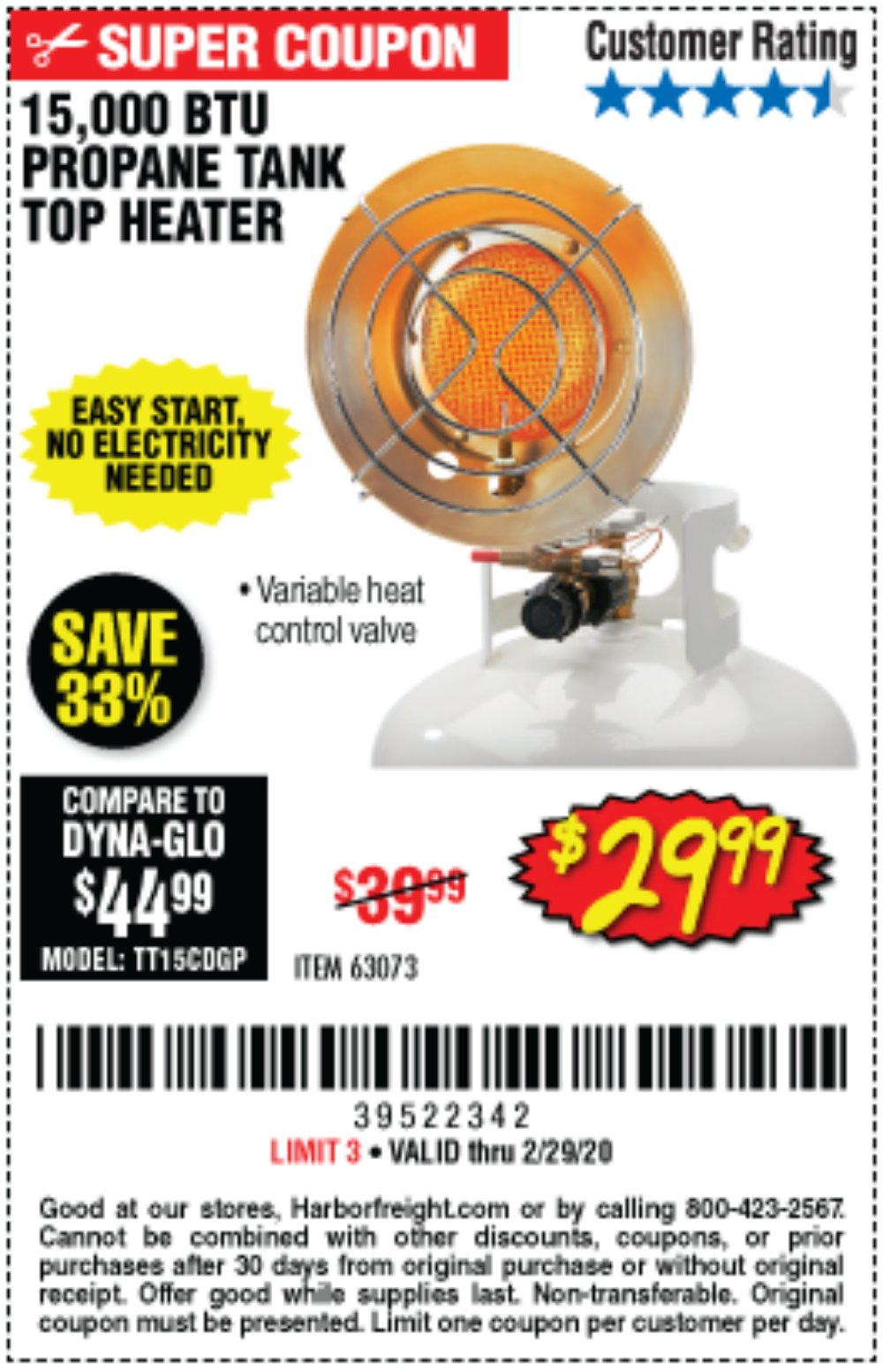 Harbor Freight Coupon, HF Coupons - 63703