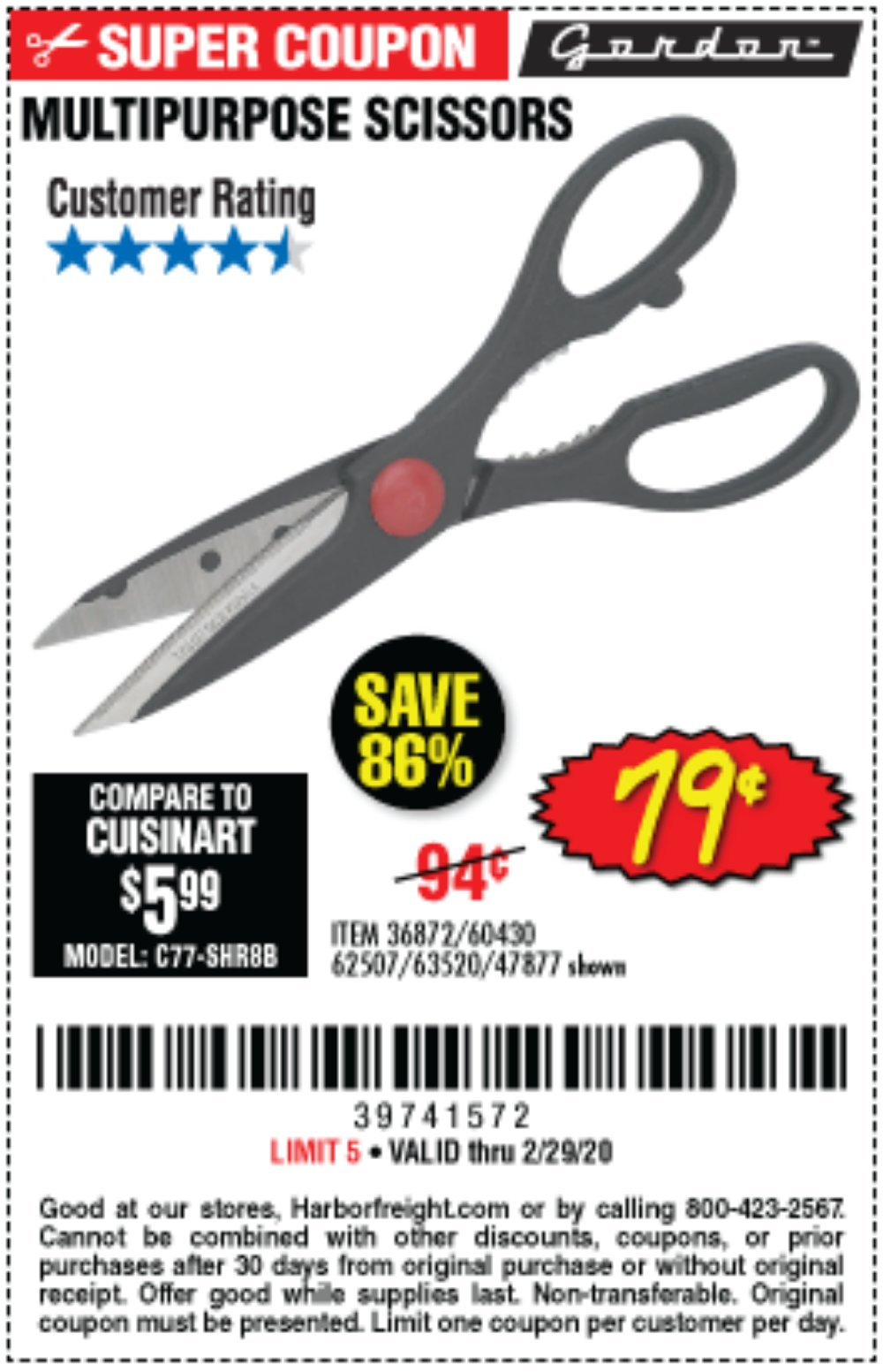Harbor Freight Coupon, HF Coupons - 36872