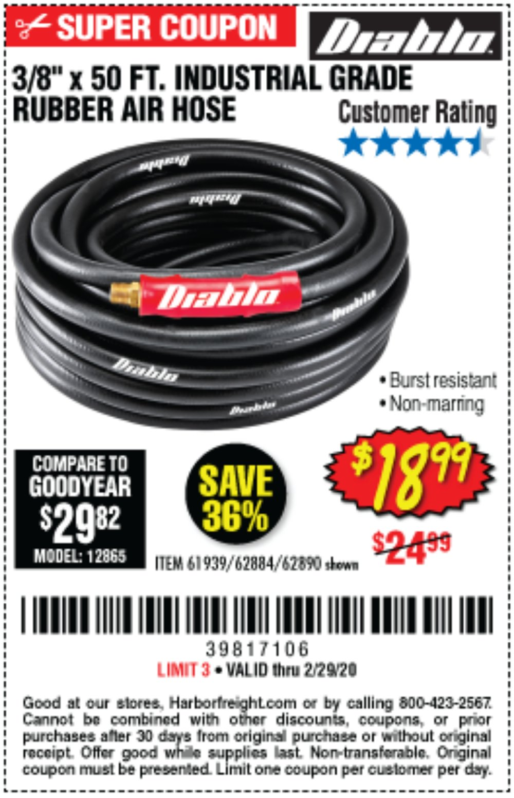 Harbor Freight Coupon, HF Coupons - Diablo 3/8