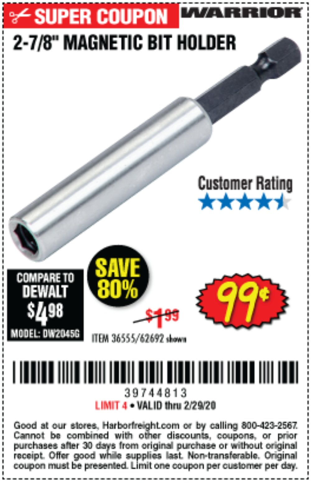 Harbor Freight Coupon, HF Coupons - 2-7/8