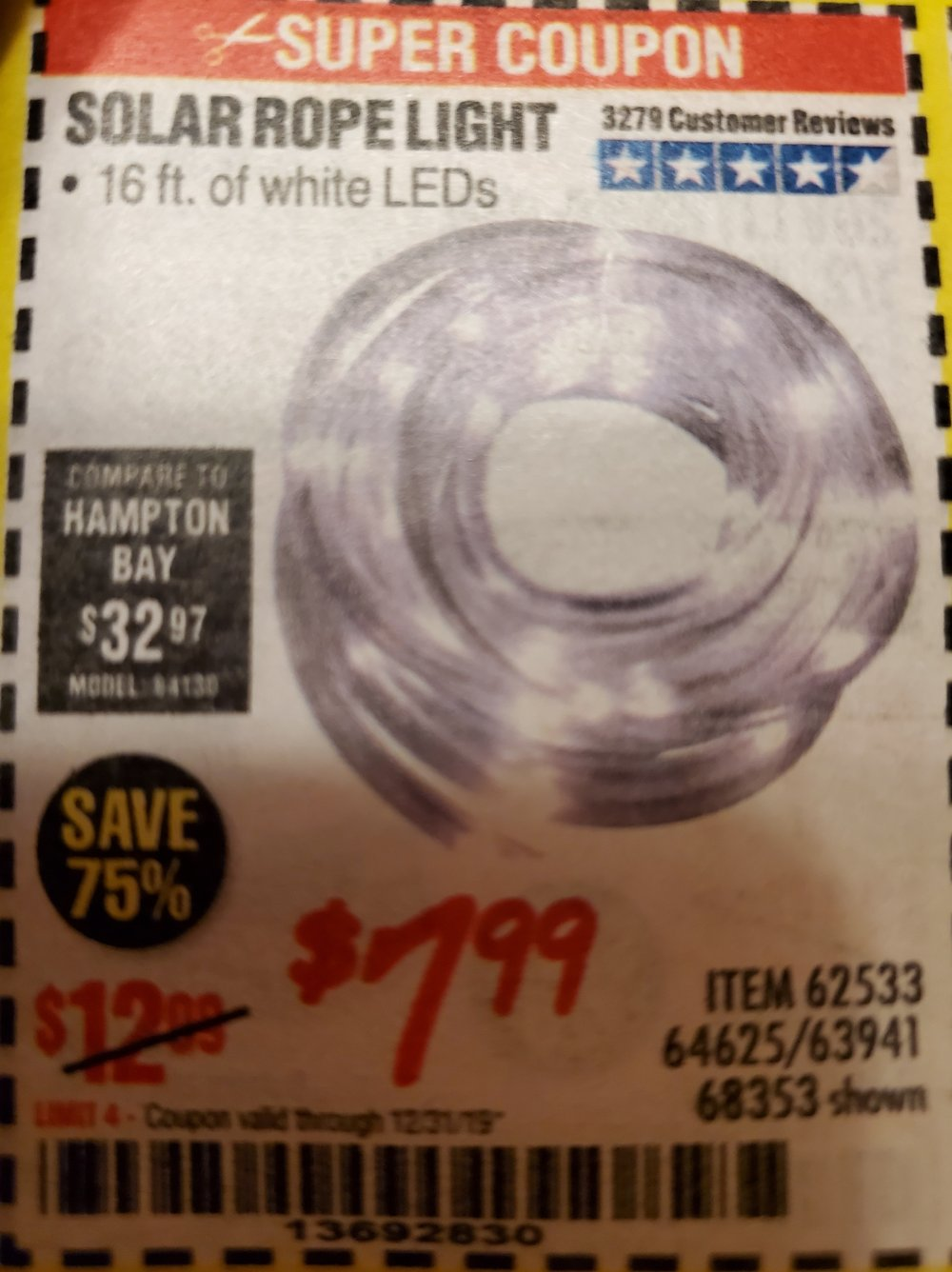 Harbor Freight Coupon, HF Coupons - Solar Rope Light