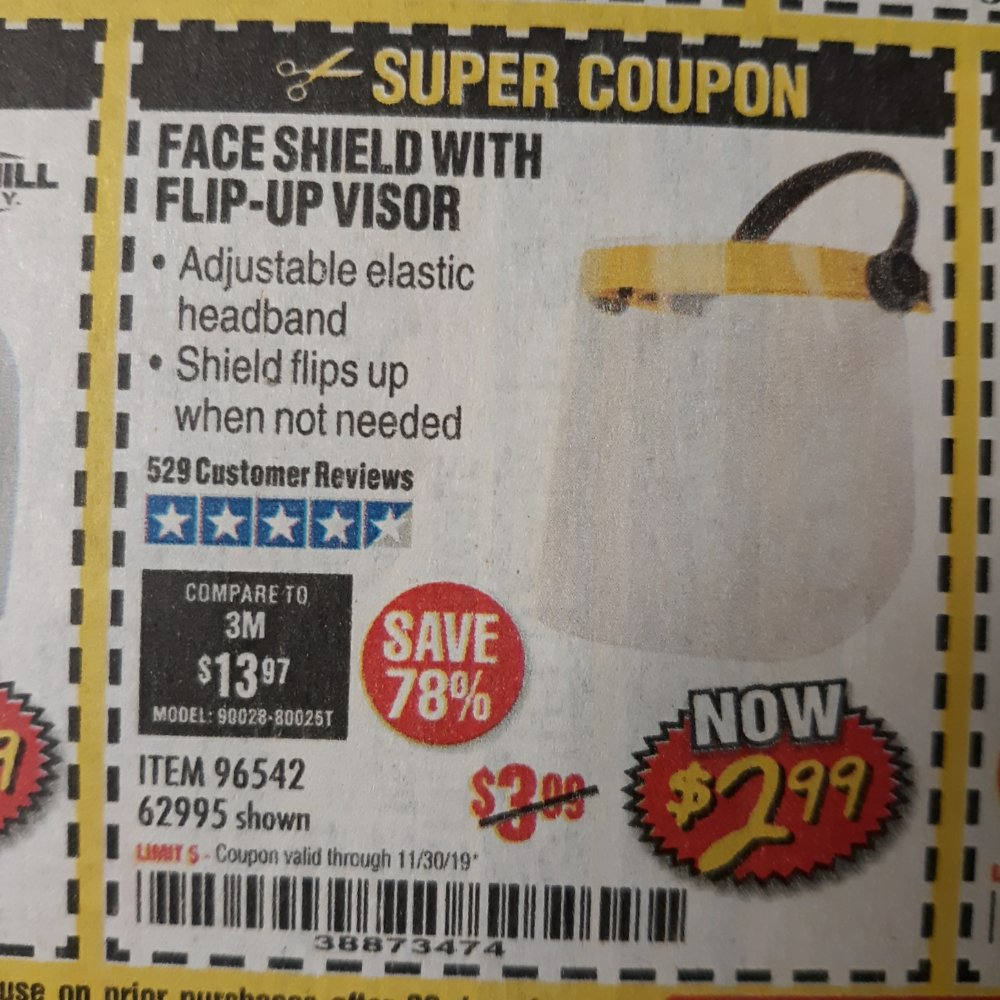 Harbor Freight Coupon, HF Coupons - Face Shield With Flip-up Visor