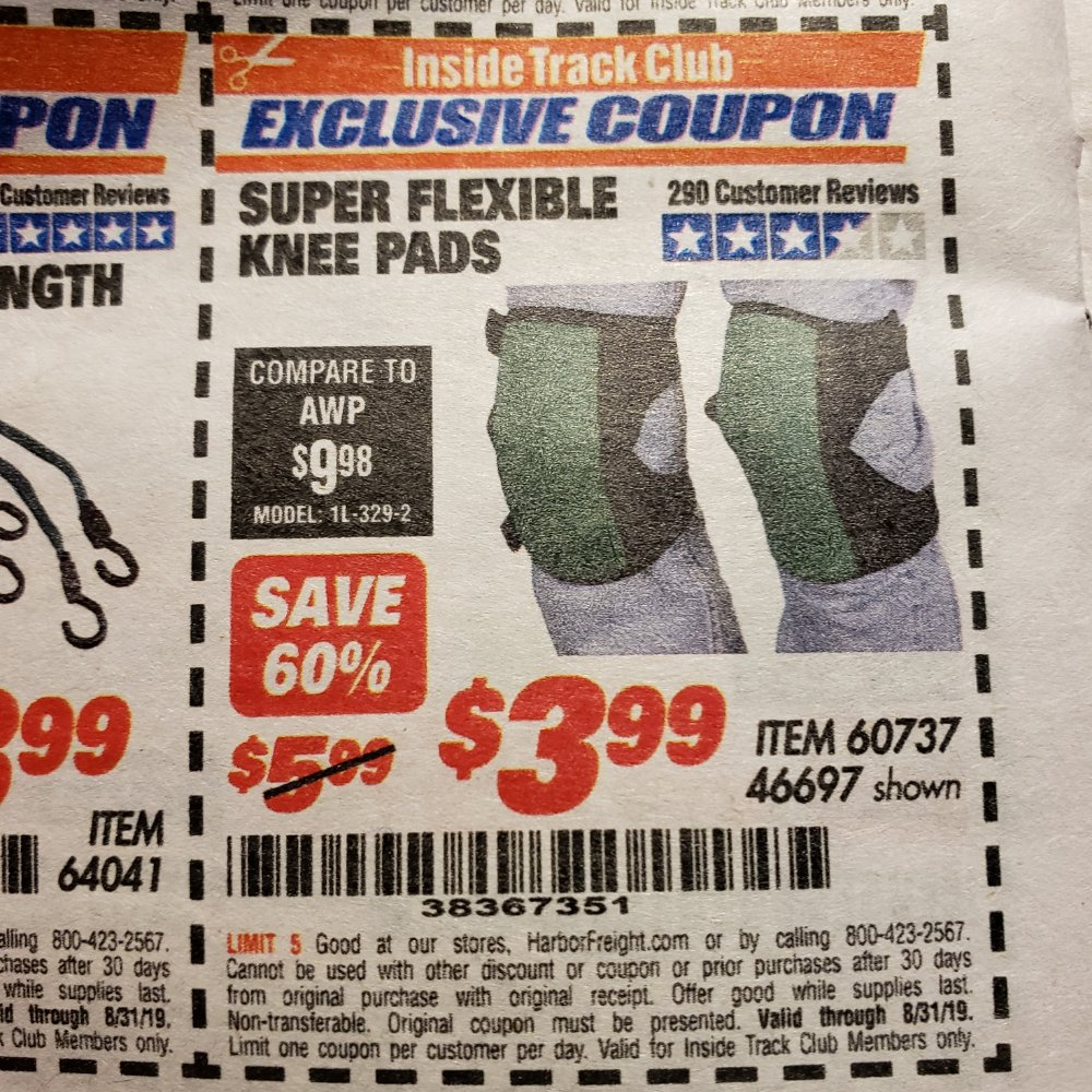 Harbor Freight Coupon, HF Coupons - Super Flexible Knee Pads