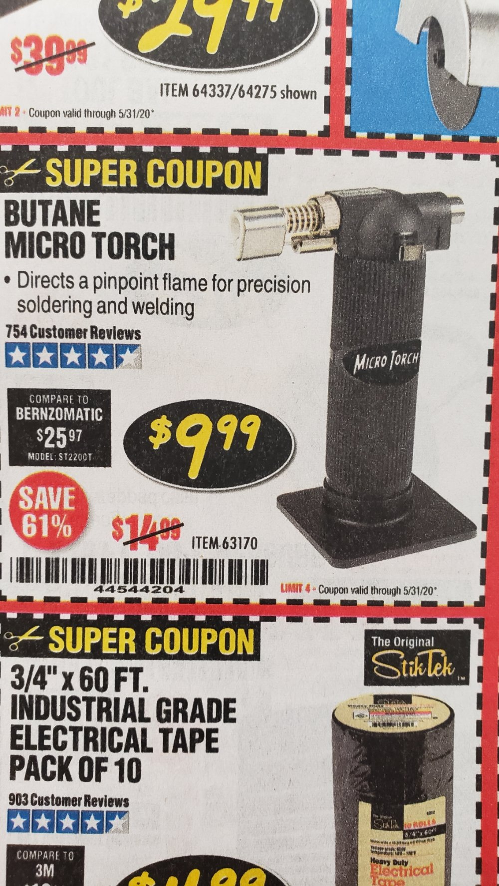Harbor Freight Coupon, HF Coupons - Butane Micro Torch