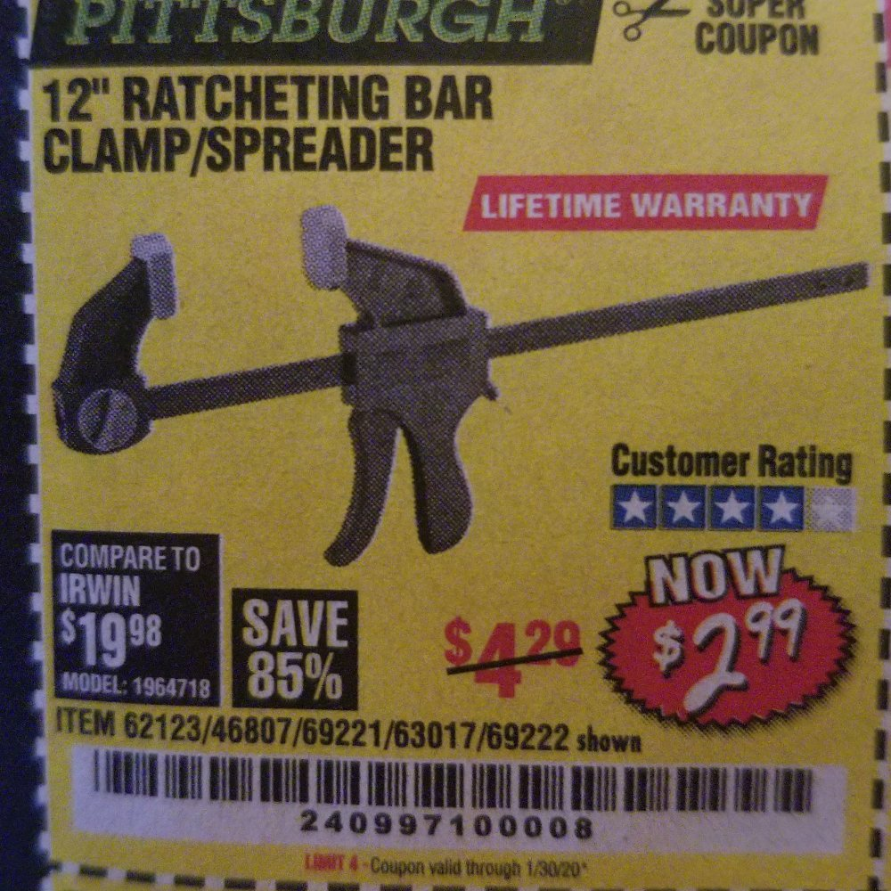 Harbor Freight Coupon, HF Coupons - 62123