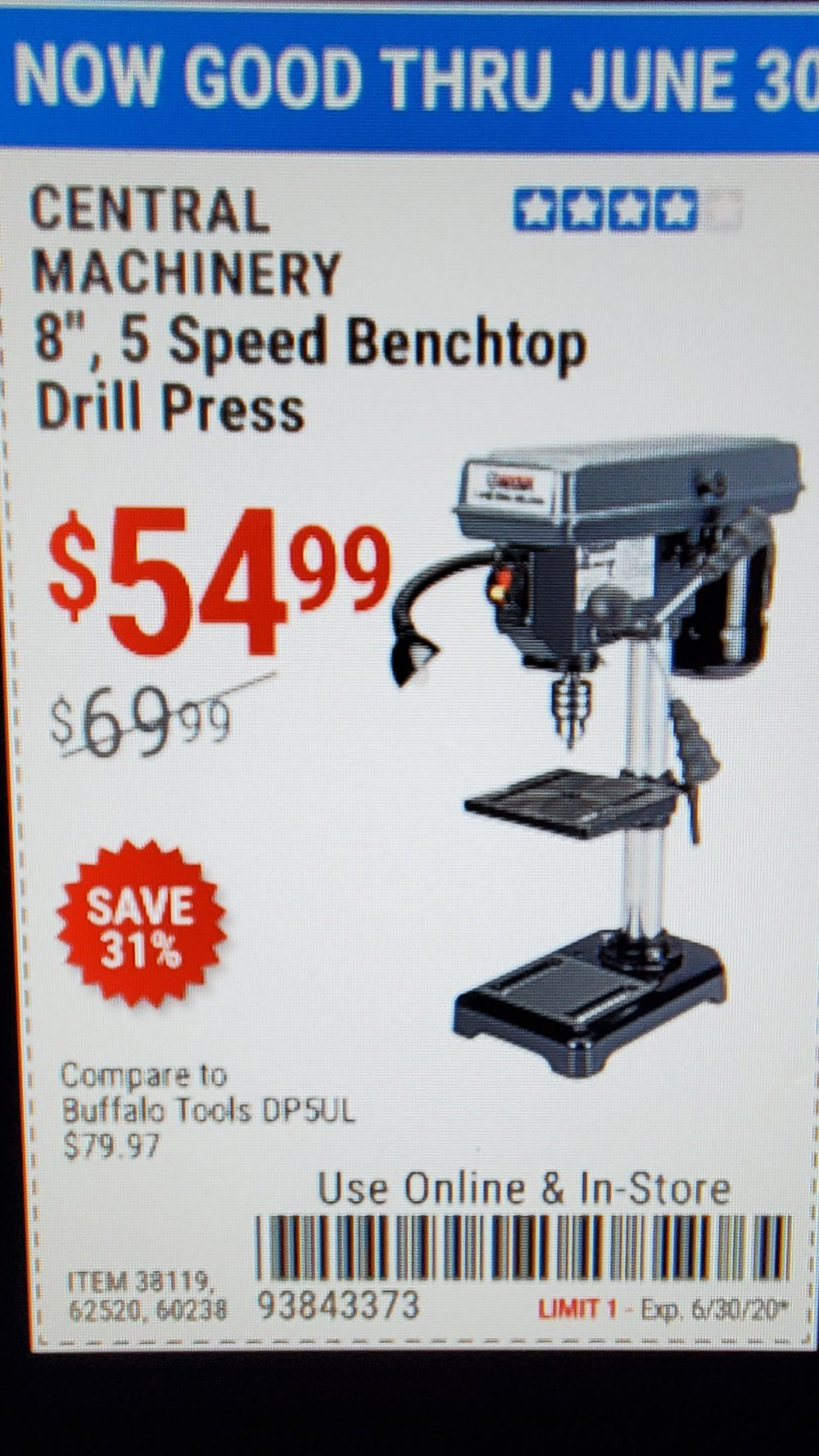 Harbor Freight Coupon, HF Coupons - Central Machinery 8