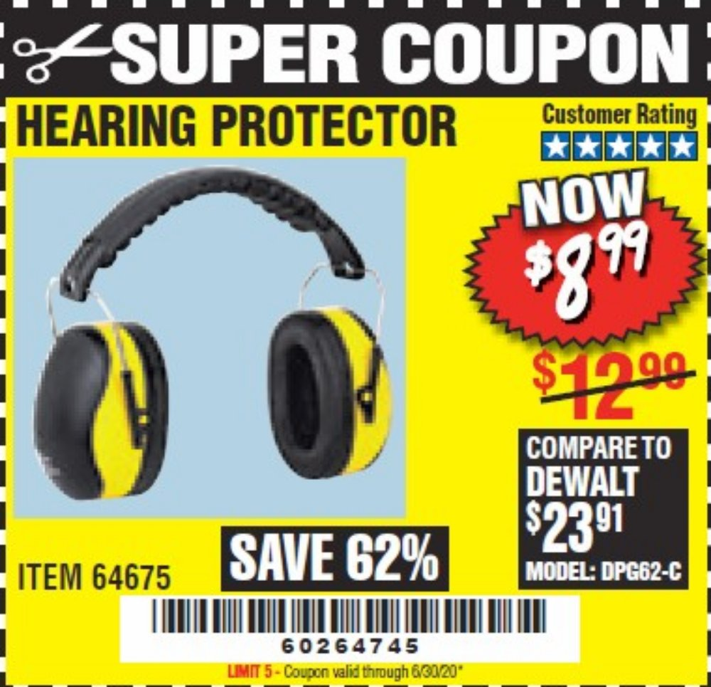 Harbor Freight Coupon, HF Coupons - Ear Muffs