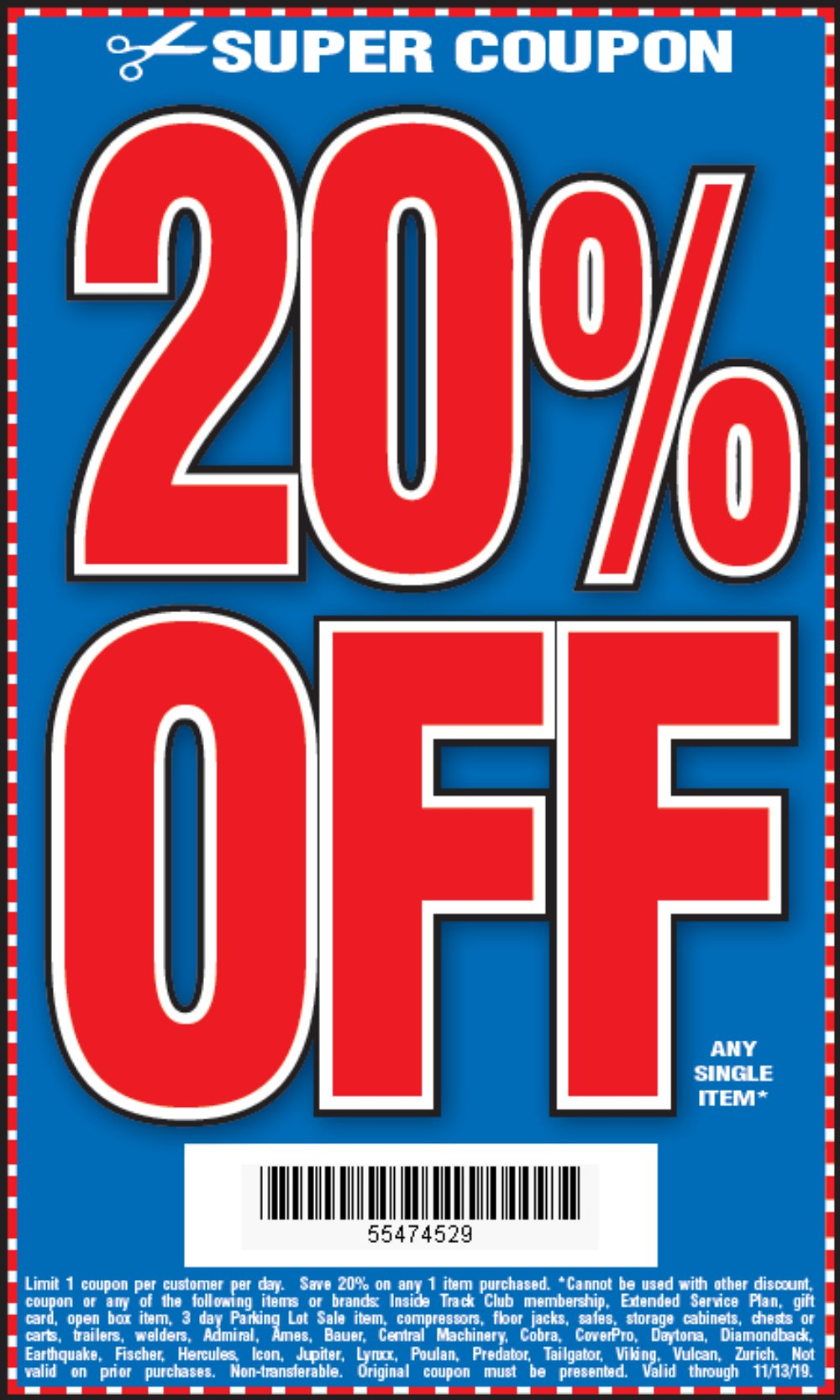 Harbor Freight Coupon, HF Coupons - 20 Percent Off Any Single Item