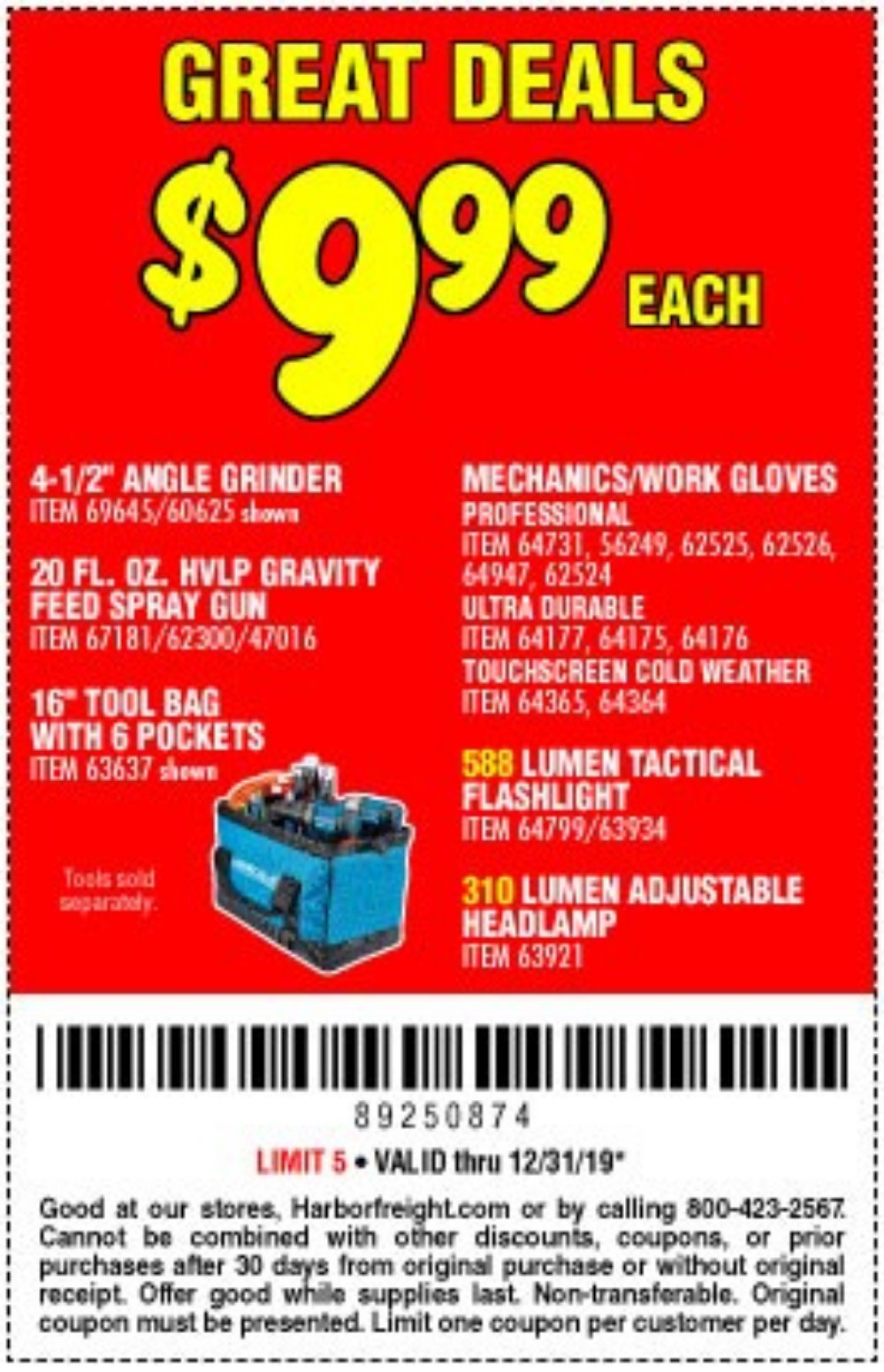 Harbor Freight Coupon, HF Coupons - Hardy Cold Weather Work Gloves Large